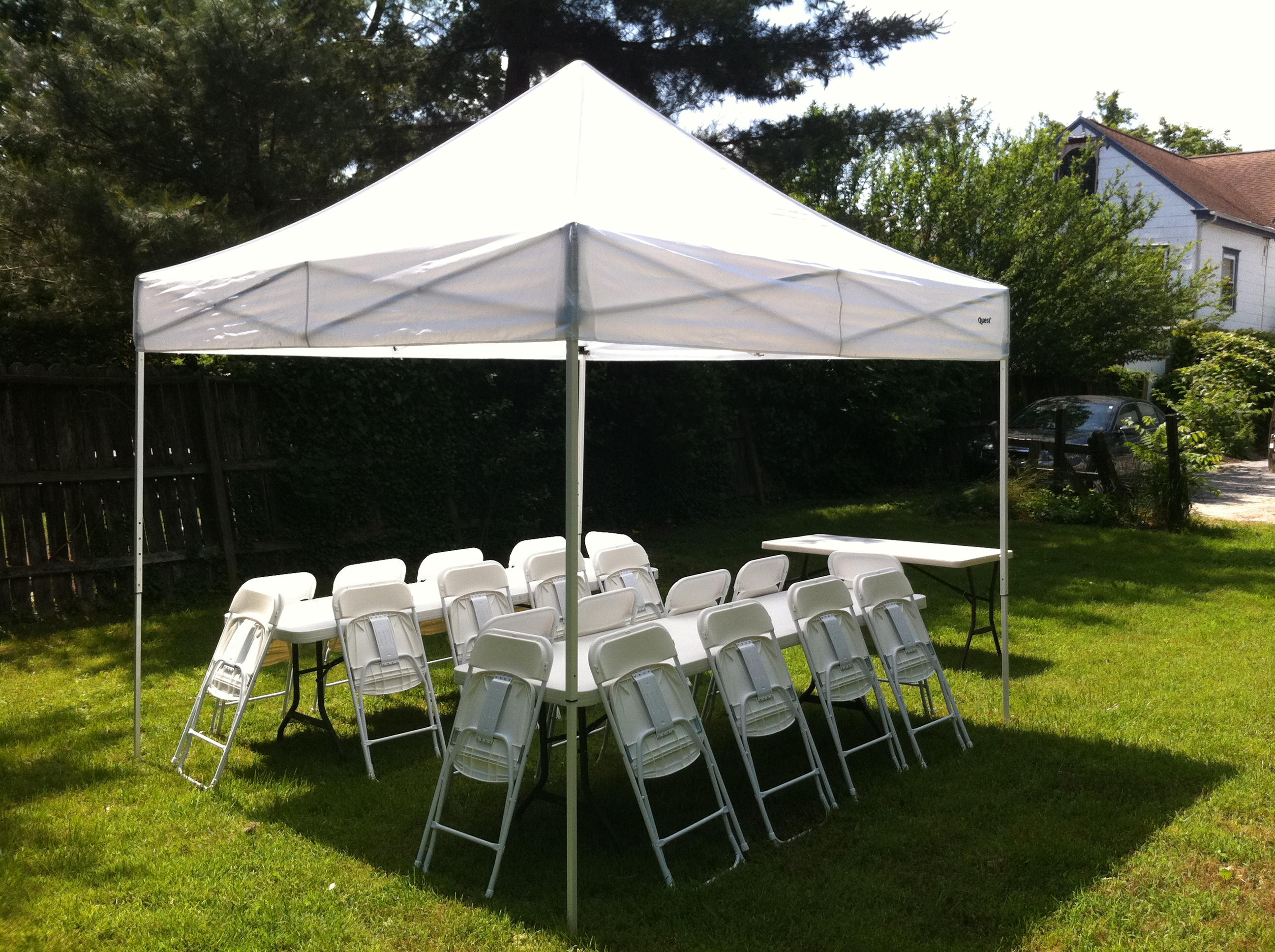 10 X 10 Pole Tent 187 Rainy Day Party Rentals