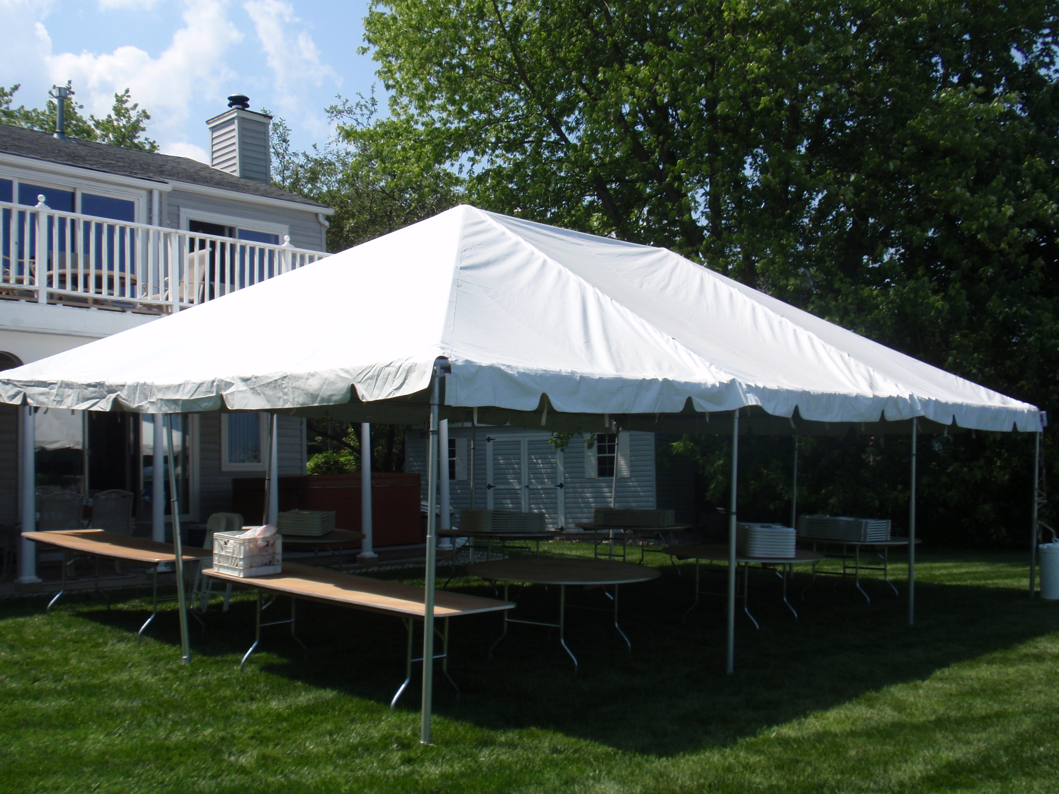20 x 30 frame tent rainy day party rentals for Fenetre 30 x 30