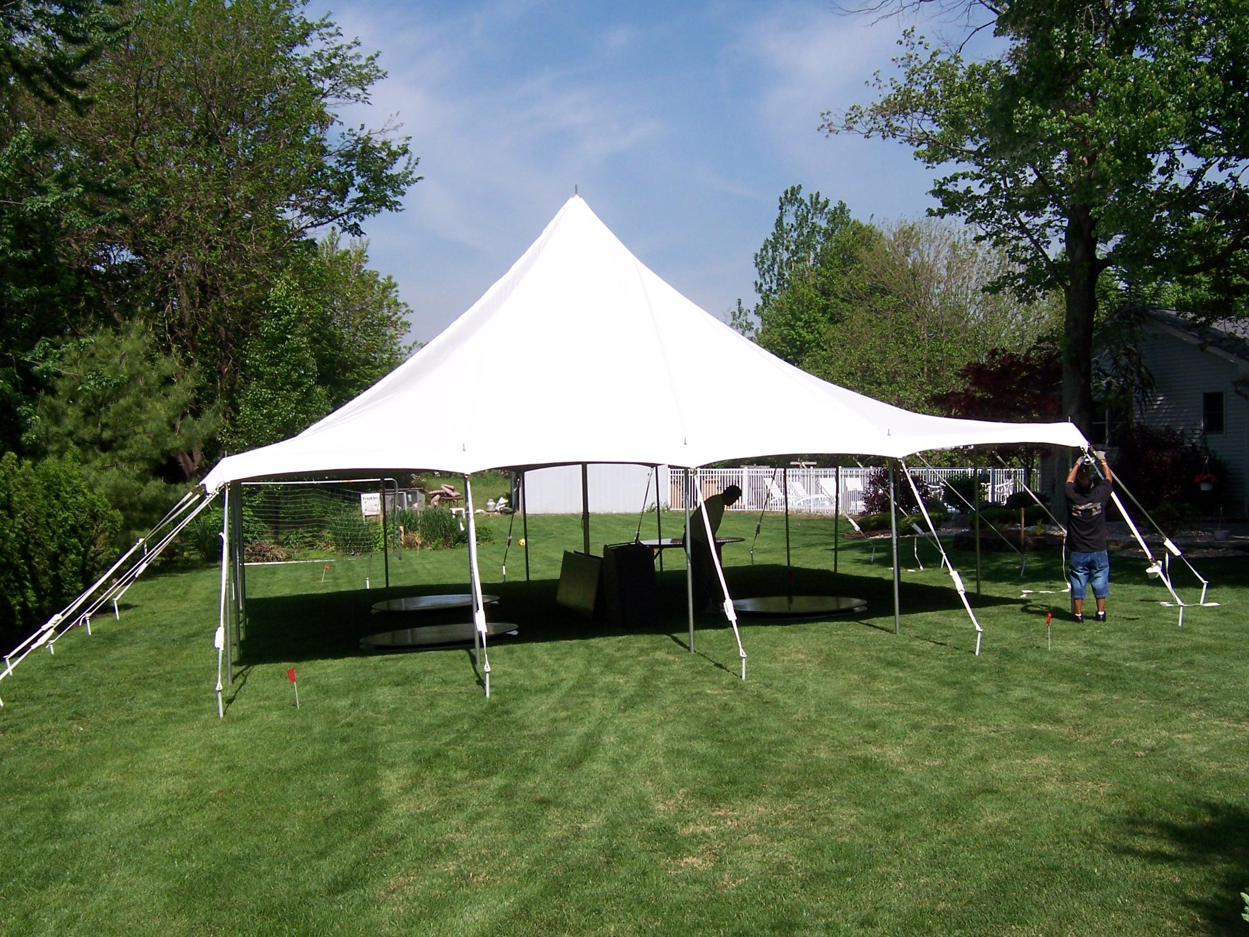 30′ x 30′ Pole Tent » Rainy Day Party Rentals